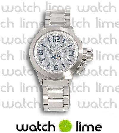 Nicolet Men's Swiss Chronograph Silver Carbon Fiber Huge Big Watch
