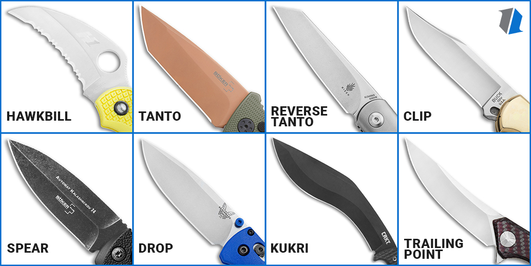 Different Knife Blade Shapes