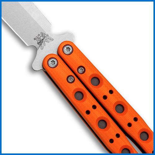 Orange Benchmade butterfly knife