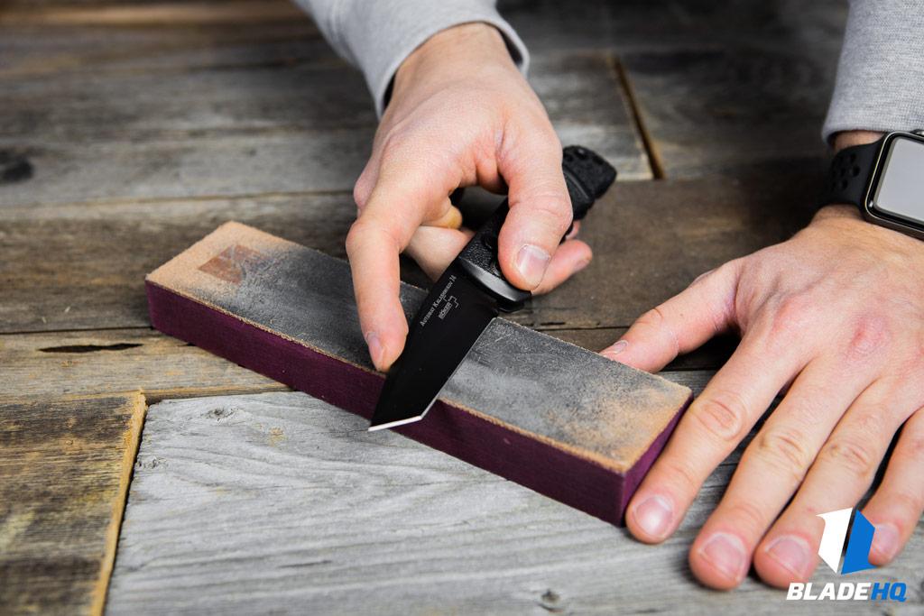 Sharpen a tanto blade