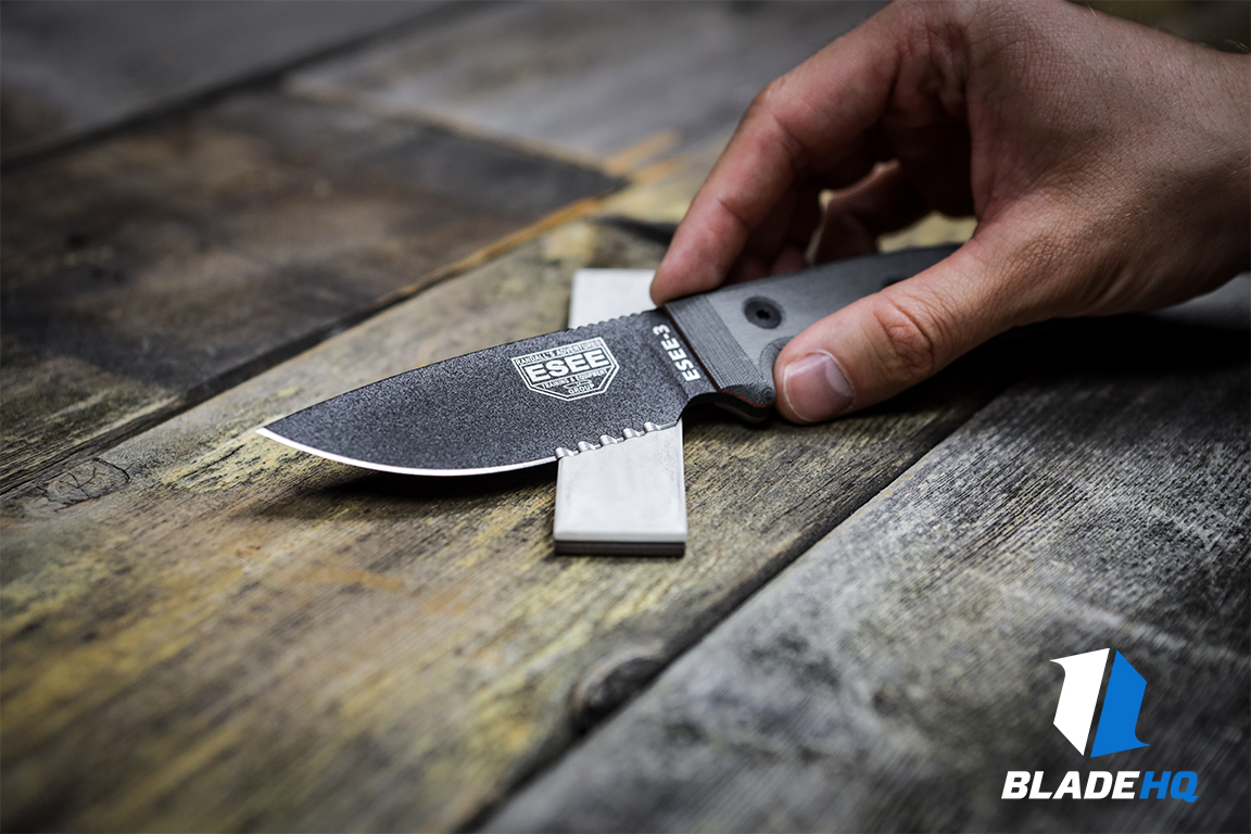 Sharpening a serrated knife