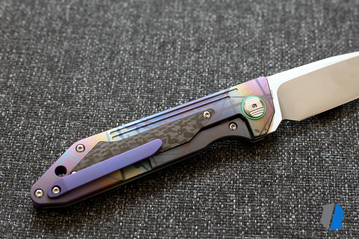 Titanium anodized knife