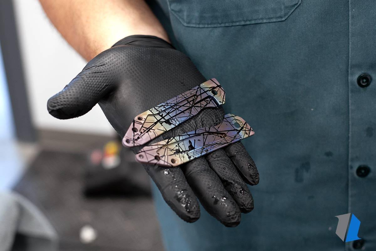 Titanium splatter anodization