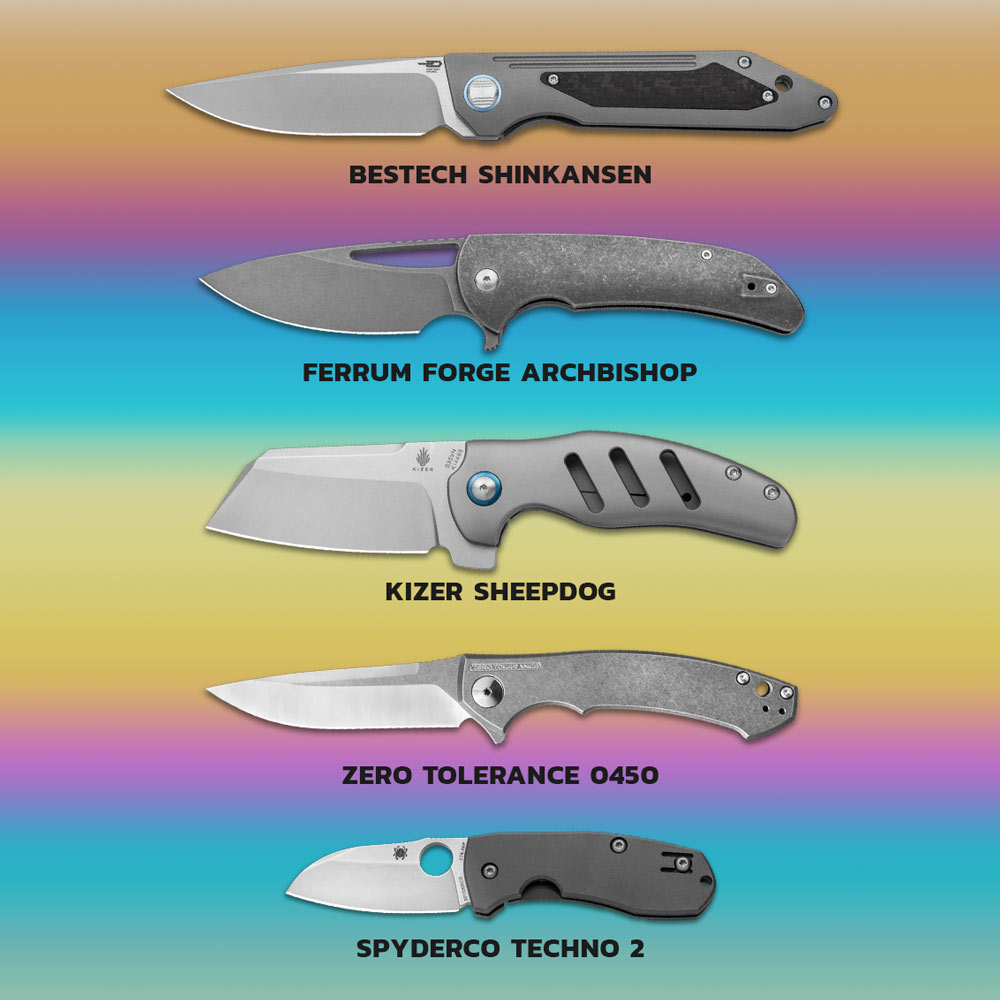 Best 5 titanium knives to anodize