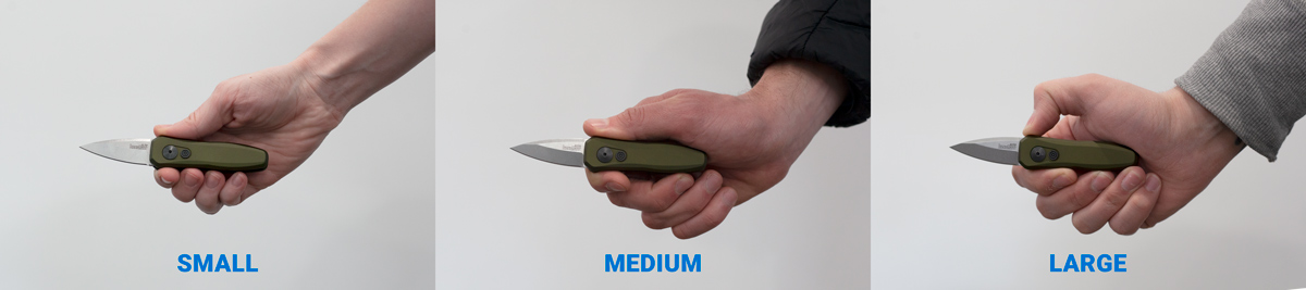 Kershaw Launch 4 Hand Size Comparison