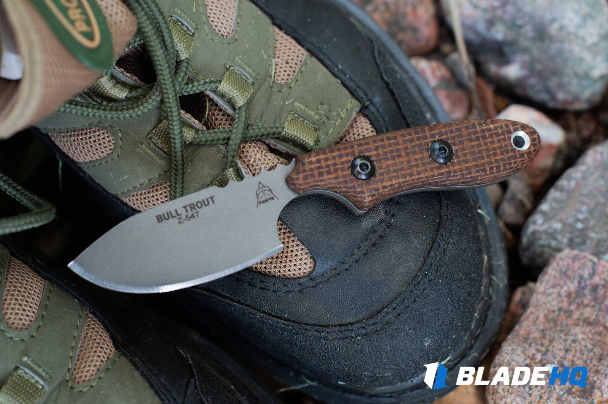 TOPS Knives Bull Trout Materials
