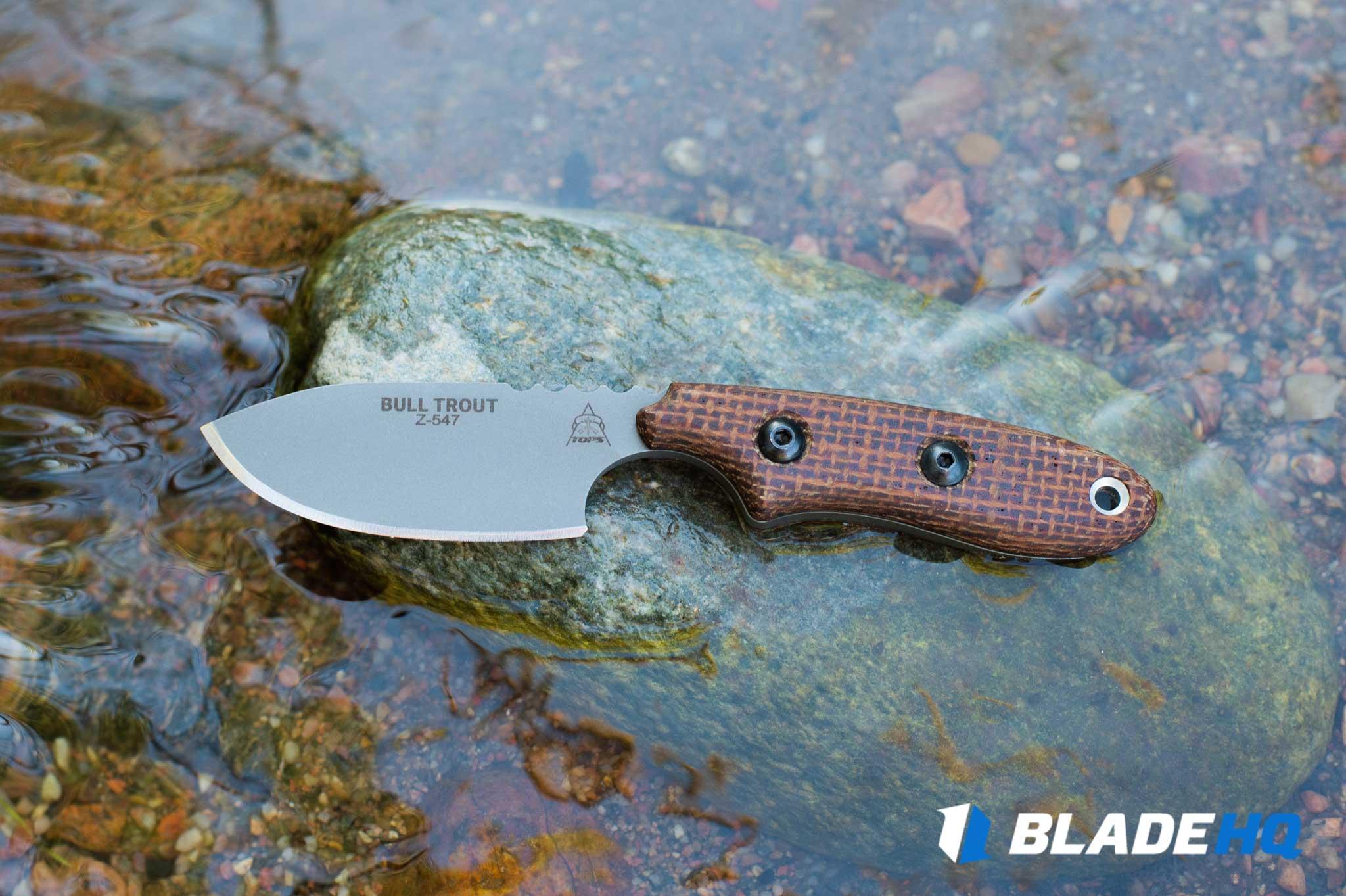 TOPS Knives Bull Trout Ergonomics