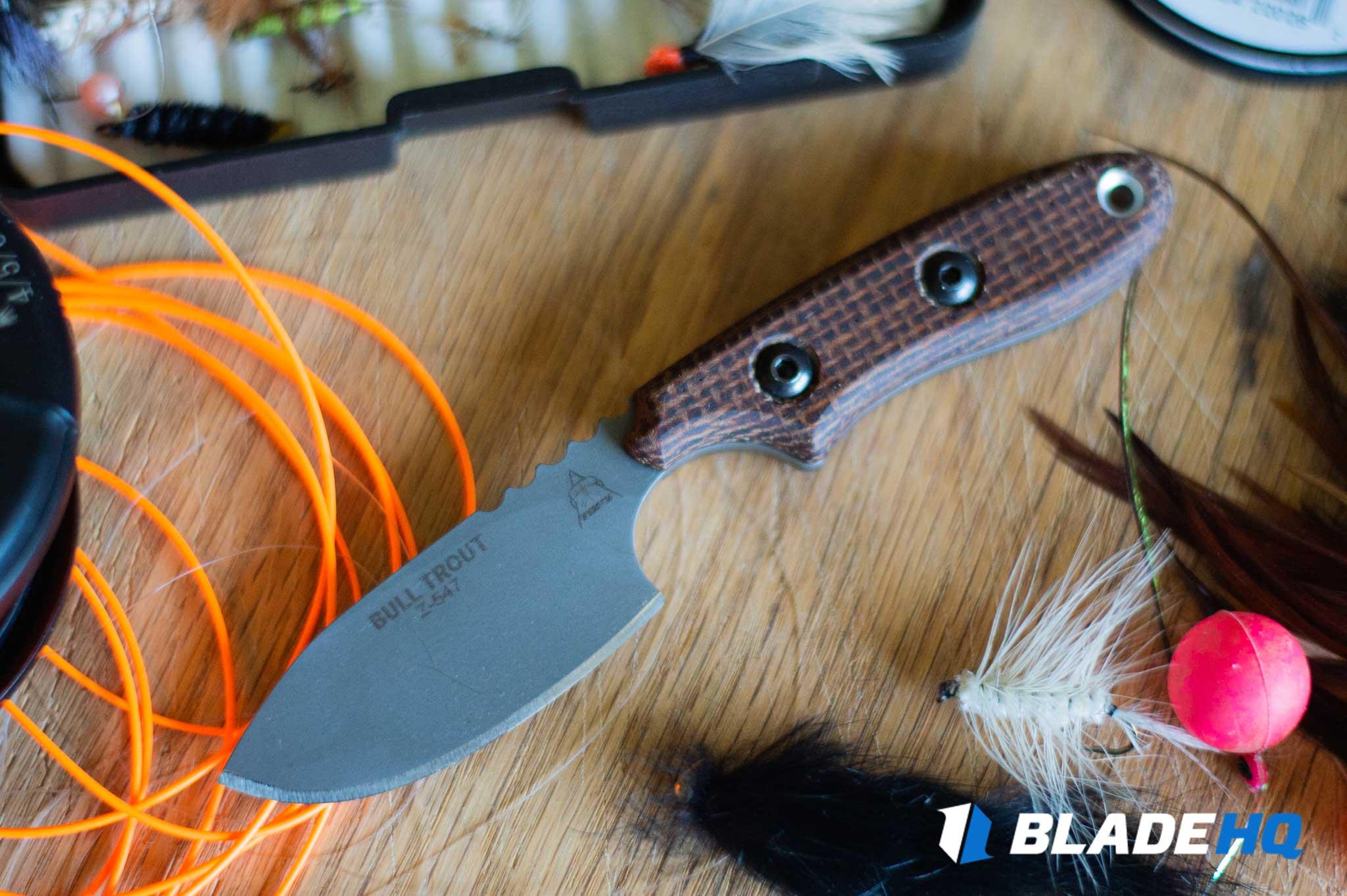 TOPS Bull Trout Knife Cut Test