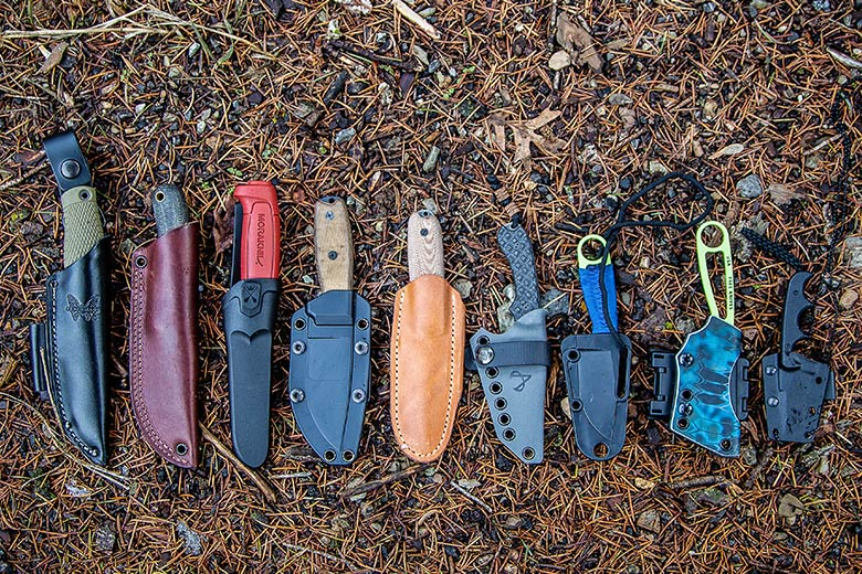 Fixed Blades with sheaths
