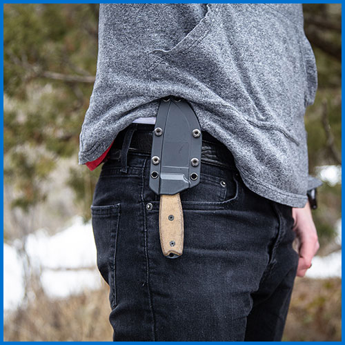 Outside Waistband fixed blade carry