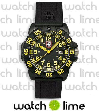 Luminox EVO Navy Seal Yellow Colormark Rubber Strap (Black) 3055