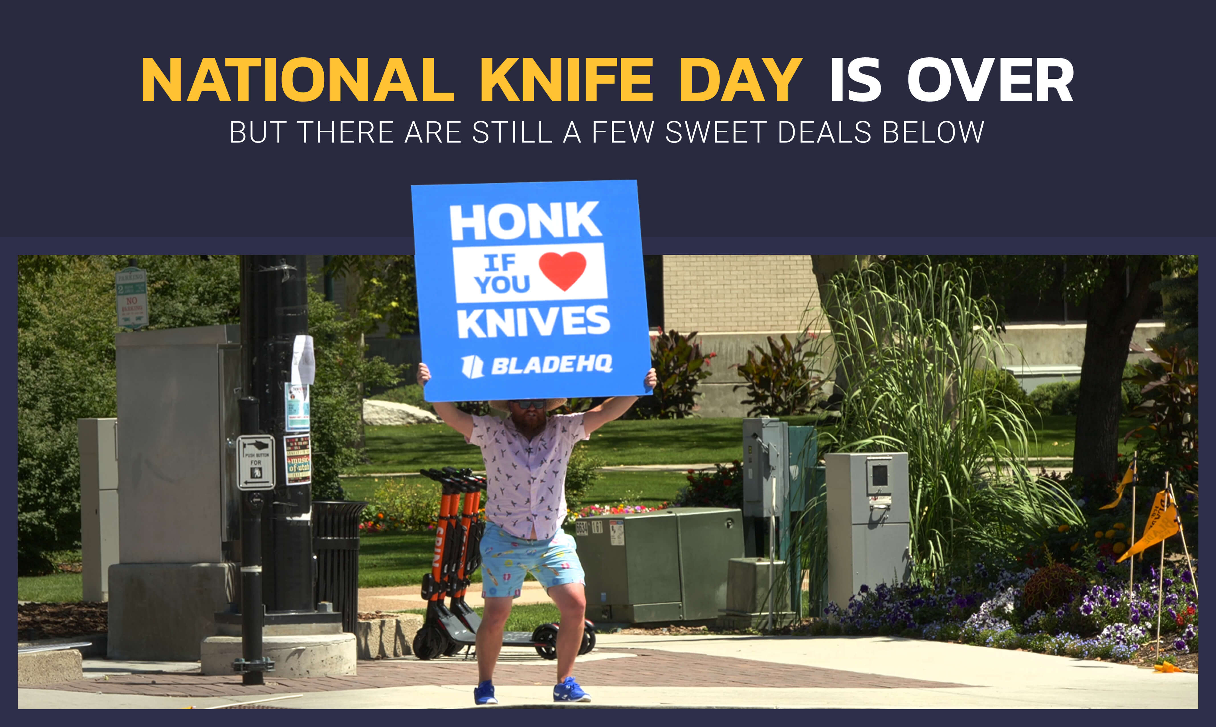 Blade HQ National Knife Day Sale 2019