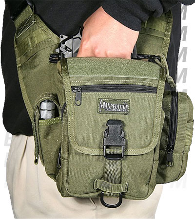 Maxpedition Fatboy S-Type Versipack Khaki Shoulder Sling Pack Bag ...