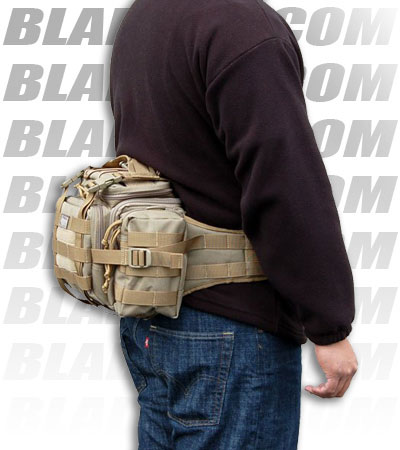 Maxpedition Sabercat Versipack Black Fanny Pack Buttpack 0426B