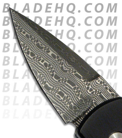 Custom Black Protech Stinger Knife (Damascus)