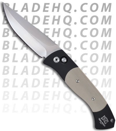 Protech Medium Brend Auto 3 Tan G-10 Automatic Knife (Satin PLN) 1331