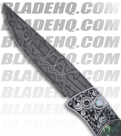 Protech Brend Auto 2 Ultimate Custom Knife (Mother of Pearl / Nichols Damascus)