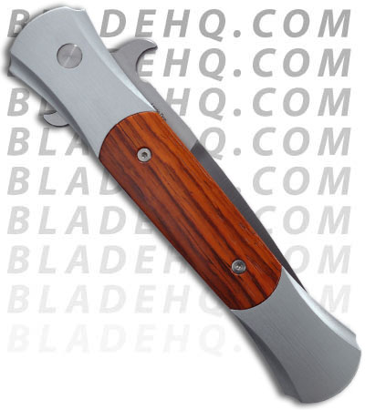 "Protech Large Don Silver Automatic Knife Cocobolo (4.5"" Satin) 1908-C"
