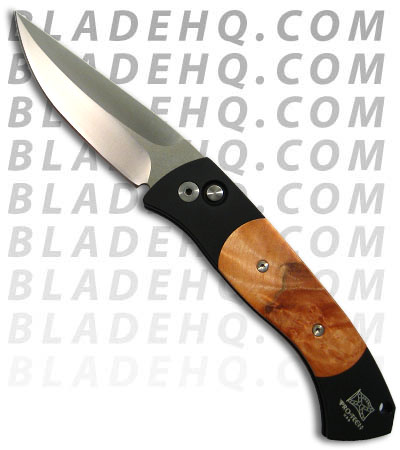 Protech Brend Auto 3 Maple Burl Automatic Knife (Satin PLN) 1306