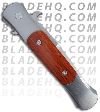 Protech Stainless Custom Don Automatic Knife w/ Cocobolo Wood (Satin PLN) 1747-C