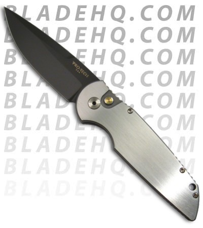Protech Tactical Response 3 Custom Stainless Knife (Black Plain) TR-3 S2