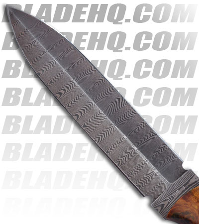 "Paragon Eddie White Shadow Fighter Damascus Knife (5.75"" Dagger)"