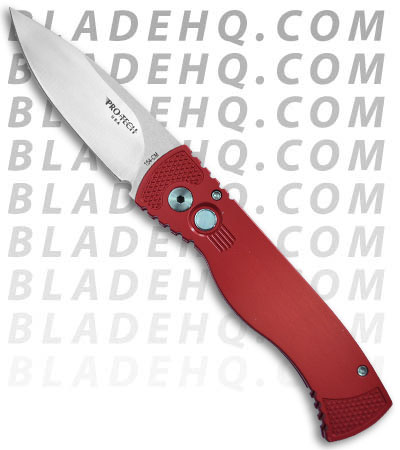 "Protech TR-2 Red LTD Tactical Response 2 Automatic Knife (3"" Satin Plain)"