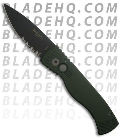 TR-2.4 GRN Protech Tactical Response 2 Automatic Knife (Black / SER)