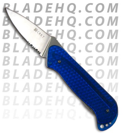 CRKT Rollock Blue Translucent Folding Knife 5212B (SER)