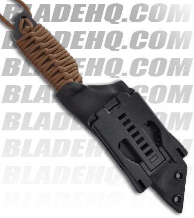 "Strider Knives DB-L Tanto Fixed Blade Knife w/OD Green Cord Wrapped (3.1"" Tiger)"