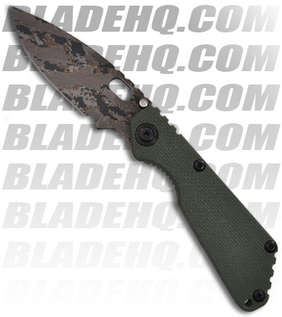 Strider Knives SnG DIGI Green G-10 Manual Folding Knife (Digi Camo PLN)