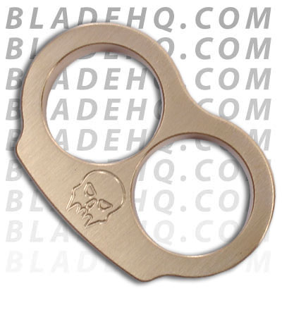Woody Knuckles Brushed Brass EDC Two Finger Knuckles