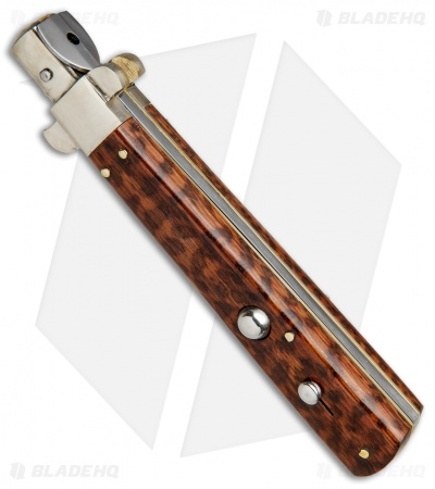 "AGA Campolin 11"" Frosolone Bayonet Stiletto Automatic Snake Wood (5"" Satin)"