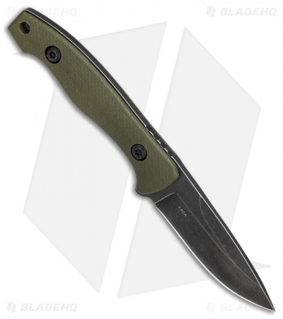 "Boker Magnum Lil Friend Fixed Blade OD Green G-10 (2"" Black SW) 02RY867"