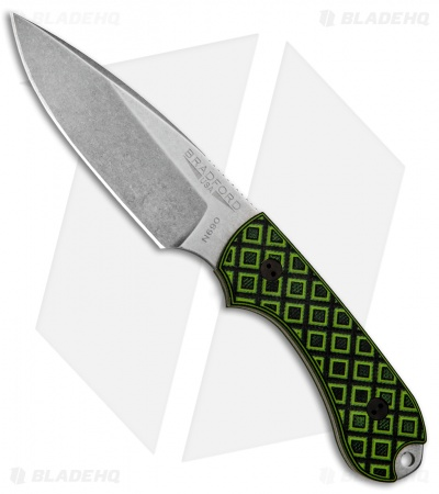 "Bradford Knives Guardian3 Knife Toxic Green/Black G-10 (3.5"" False Edge/N690/SW)"