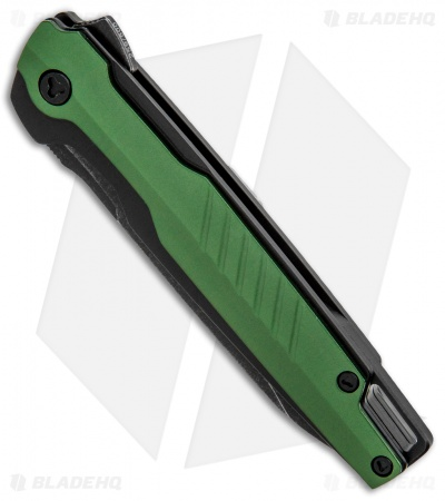 "Brous Blades Icon Liner Lock Flipper Knife Green (3.5"" Acid Stonewash)"