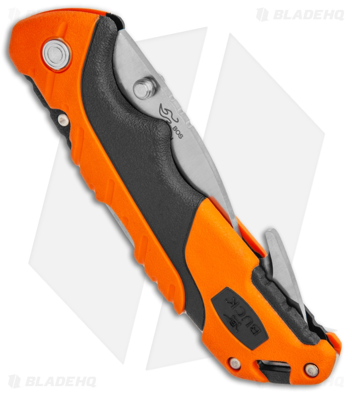 "Buck Pursuit Pro Large Lockback Guthook Knife Black/Orange (3.5"" Satin)"
