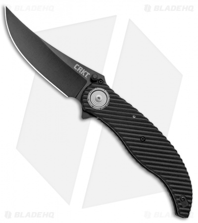 "CRKT Clever Girl Folder Deadbolt Lock Knife Black G-10 (4"" Black)  2640"