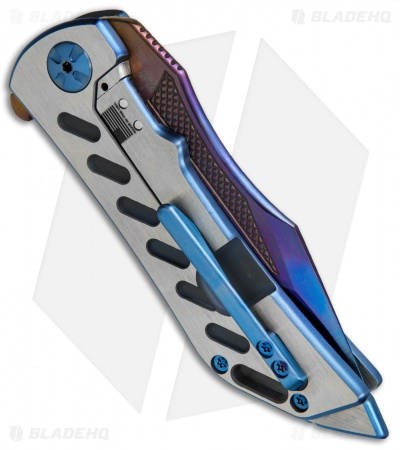 "Darrel Ralph DDR Custom Dominator Knife Blue/Satin Ti (3.75"" SM-100)"
