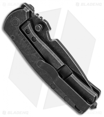 "DPx Gear HEST/F Urban Frame Lock Knife Black Flag Titanium (2.9"" Black SW)"