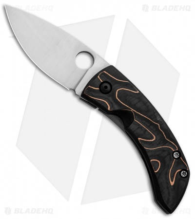 "Deviant Blades Chinese Custom Frame Lock Knife Copper Weave CF (2.8"" Satin)"
