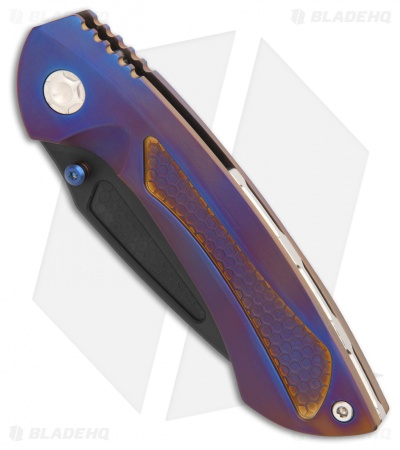 "EOS Dorado Frame Lock Knife Purple/Bronze Ti (3.6"" Black)"