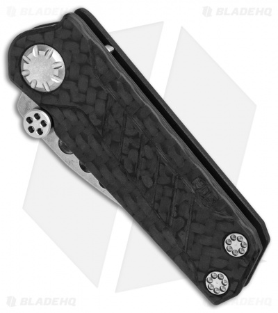 "EOS Prawn Friction Folder Knife CF + Black Aluminum (2.1"" Stonewash)"