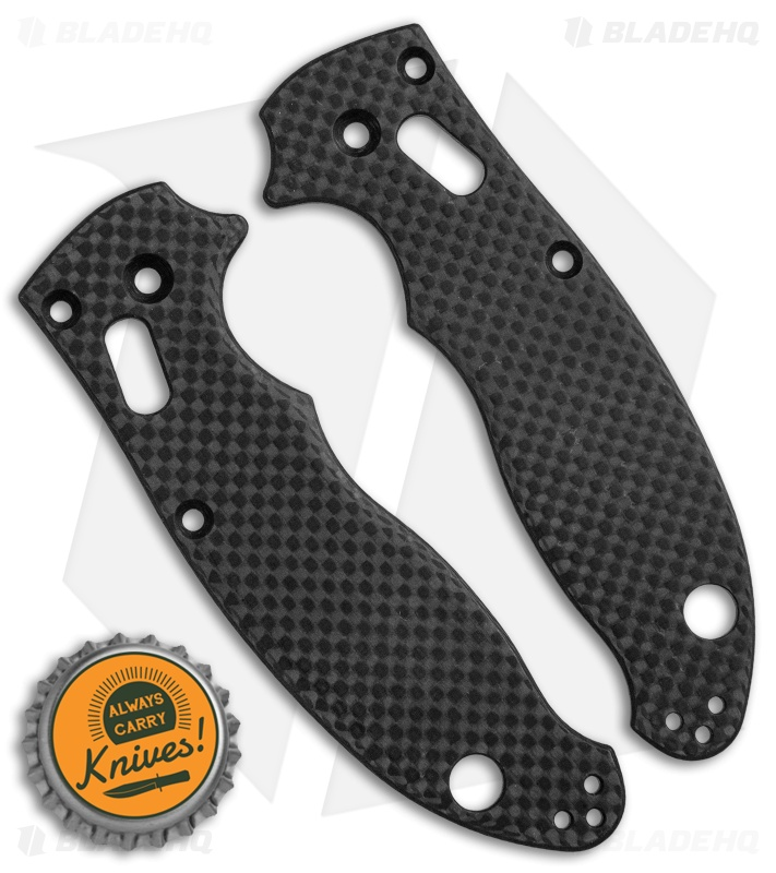 Flytanium Custom Carbon Fiber Scales for Spyderco Manix 2 - Black