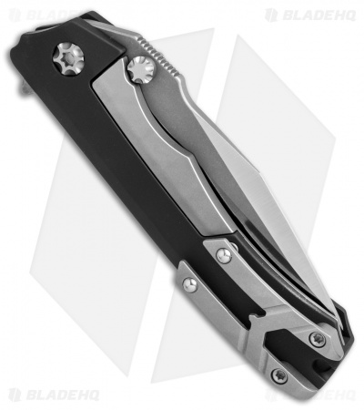 "Heretic Knives Wraith Flipper Knife Black Aluminum (3.625"" Satin)"