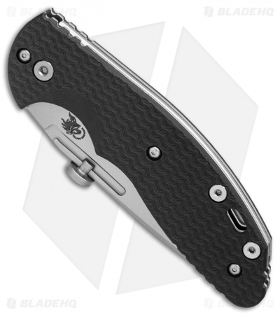 "Hinderer Knives XM Slippy Spanto Slip Joint Knife Black G-10 (3"" Stonewash)"