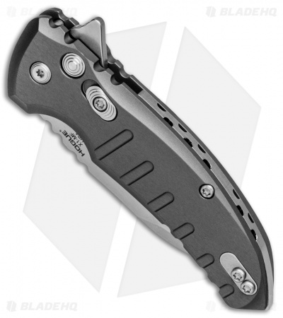 "Hogue X1 Microflip Wharncliffe Plunge Lock Knife Matte Gray (2.6"" SW) 24162"