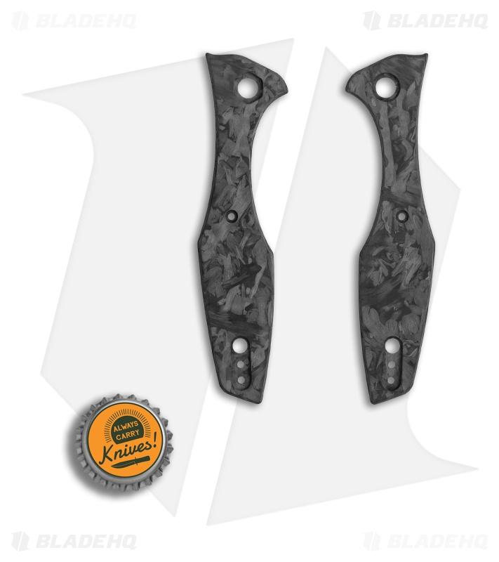 Karbadize ZT 0393 Replacement Scales - Marble Carbon Fiber