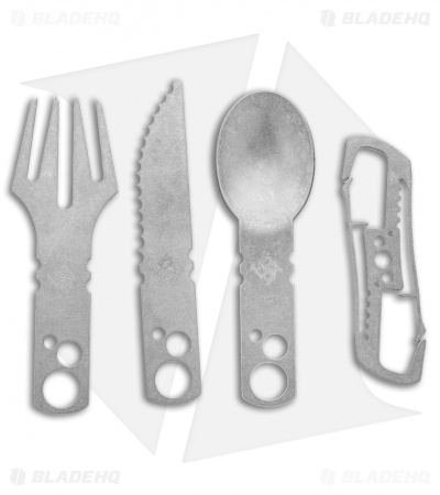 Koch Tools TiWare Camp Utensil Set - Stonewashed Titanium