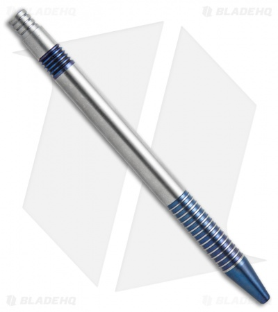 Matthew Martin Tactical 375 Series Blue Ano Titanium Click Pen